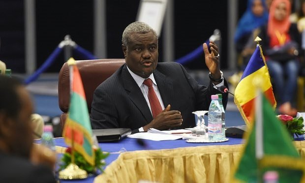 Moussa Faki Mahamat - African Union Chair - source the Guardian