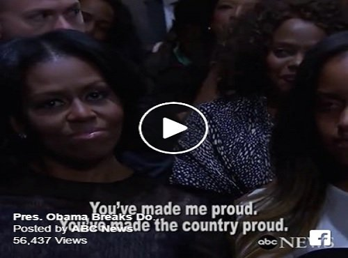 Obama spoke with tears about his wife Michelle