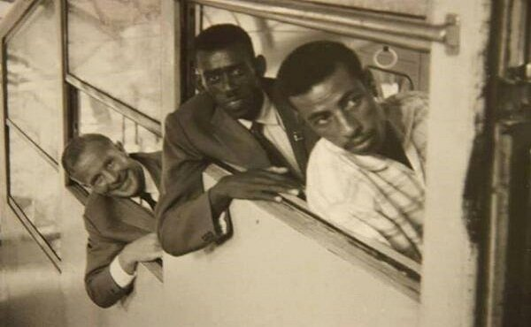 Wami Biratu with legendary athlet Abebe Bikila