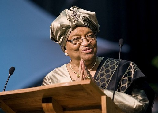 Liberia  President , Ellen Johnson Sirleaf , is  in Ethiopia