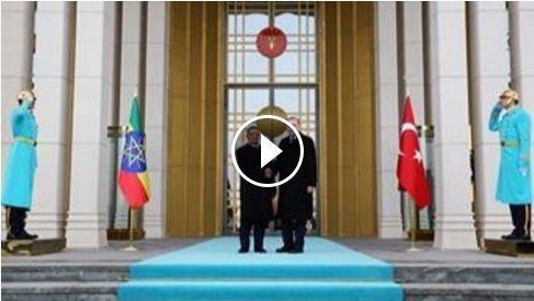Guard of Honour reception at Ankara Presidential palace in Turkey for Mulatu Teshome (video)