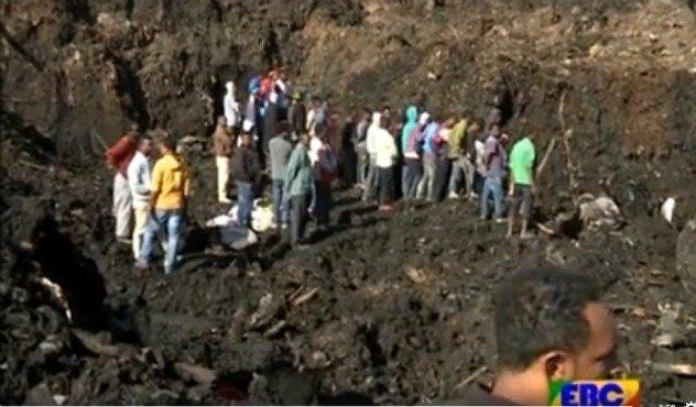 Addis Ababa garbage dump landslide - news - source EBC