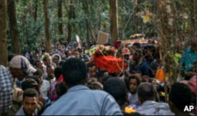 Garbage Dump Landside-Ethiopia- Addis Ababa - funeral -