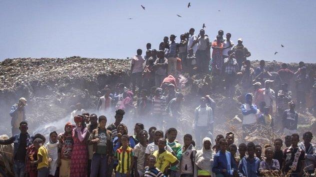 Garbage Dump Landside-Ethiopia- Addis Ababa - AP Photo