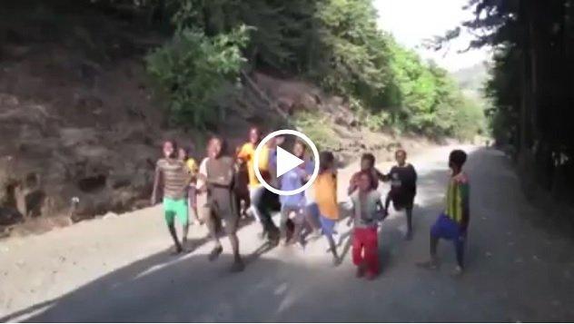 Poverty,fun and children in Ethiopia