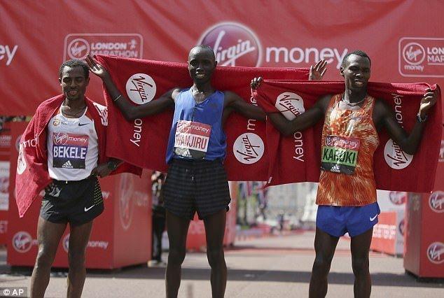 Daniel Wanjiru - Kenenisa Bekele - Bedan Karoki - Feyisa Lilesa - London Marathon 2017