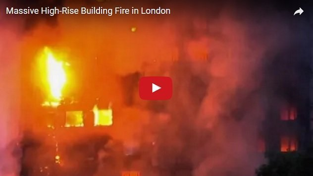 [Video] Fire in London blazed a 24 story building