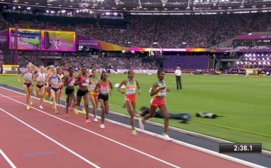 Almaz Ayana got silver for Ethiopia
