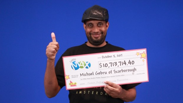 michael gebru Lotto Max winner -