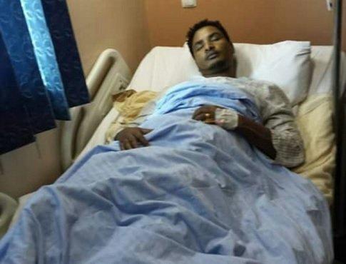 Melaku Bireda in Hospital