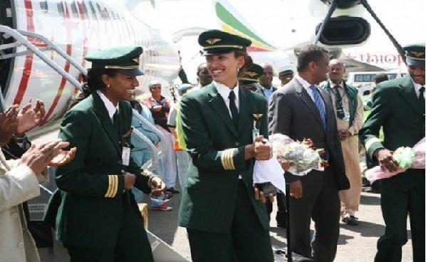 Female pilot Amsale Gualu - Ethiopian Airlines