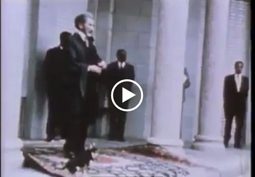 Emperor Haileselassie's last appearance before he was taken by a  group of military officers [Video]