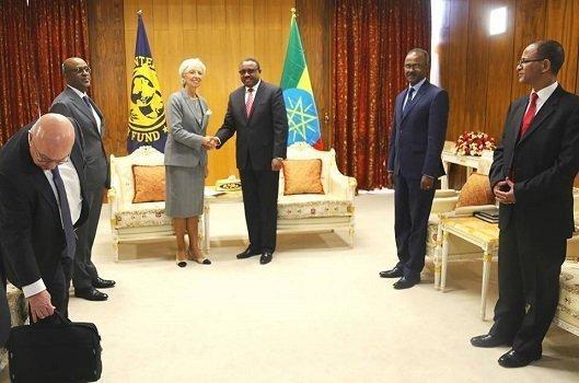 Christine Lagarde - IMF director in Ethiopia