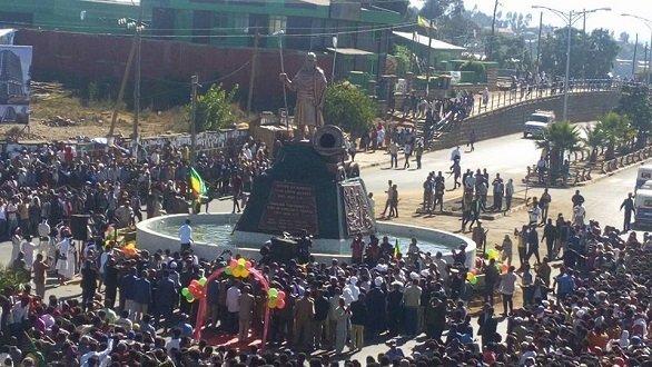 Emperor Tewodros II statue in Debre Tabor