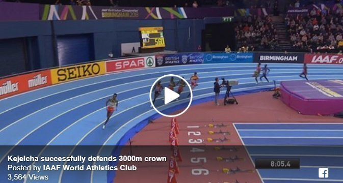 Yomif Kejelcha defended his 3000 meters title at Birmingham 2018
