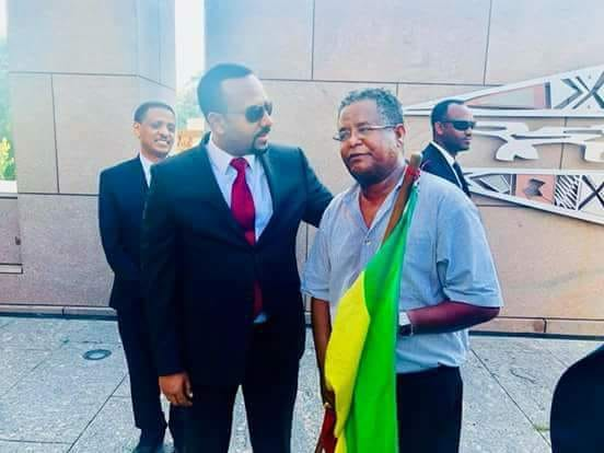 Pm Abiy Ahmed Made Peace With A Lone Protester In Washington Dc