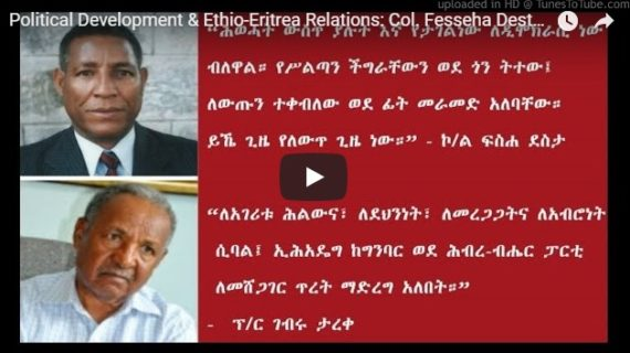 Two Ethiopians from Tigray background advise TPLF to accept the change