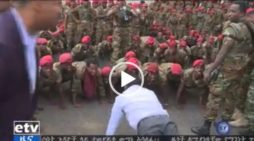 PM Abiy Ahmed doing push ups with special forces who demand better pay