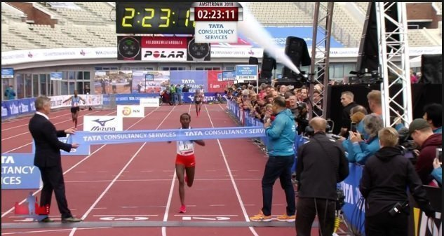 Amsterdam Marathon: Tadelech Bekele won it as Kenenisa dropped out