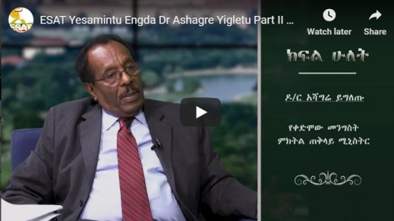 Interview with Dr. Ashagrie Yigletu reveals Meles &TPLF tricks and political nature