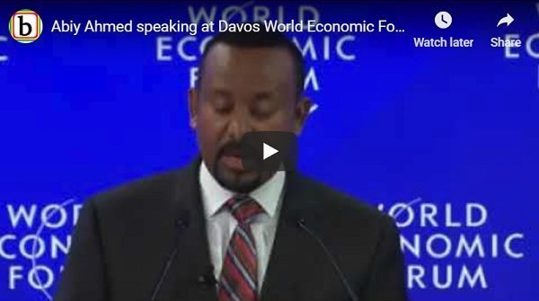 Prime Minister Abiy Ahmed's speech at Davos World Economic Forum