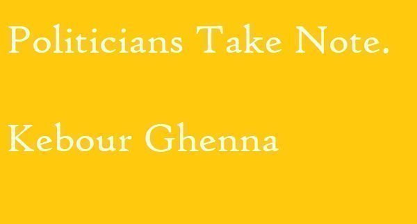 Ethiopia : Politicians Take Note (Kebour Ghenna)