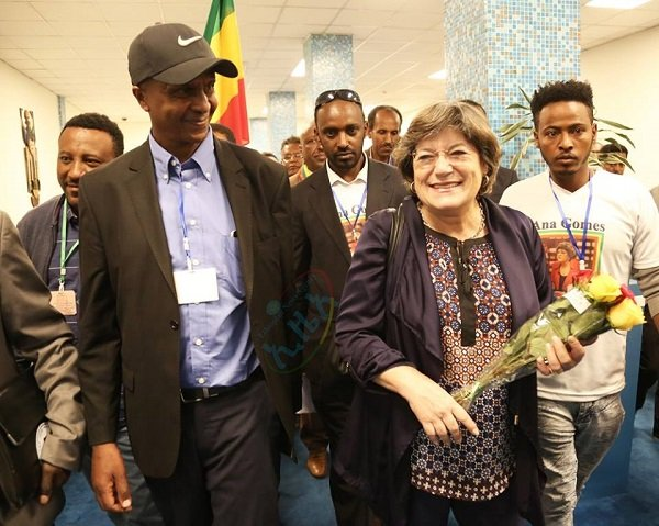 Ana Gomes,Hanna Gobeze in her Ethiopian name, given warm reception in Addis Ababa