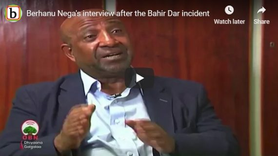 Arbegnoch Ginbot 7 leader Berhanu Nega interview after Bahir Dar incident