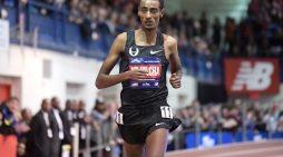 Ethiopia's Yomif Kejelcha smashed Indoor Mile World record in Boston