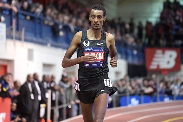 Ethiopia's Yomif Kejelcha smashed Indoor Mile World record in Boston