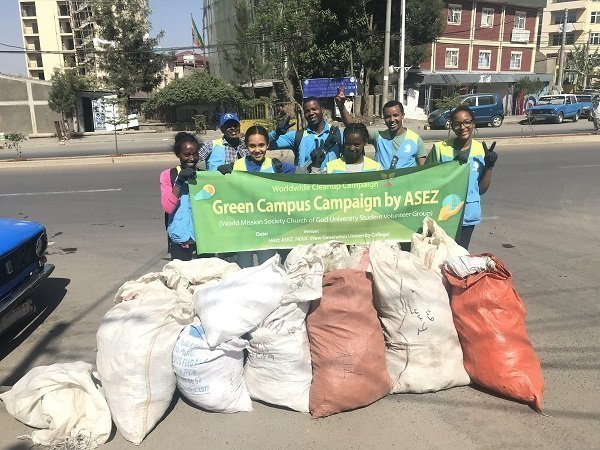 ASEZ volunteers conducted clean-up in Addis Ababa