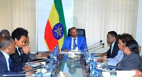 Foreign Minister Gedu Andargachew Meets with Officials of the Ministry