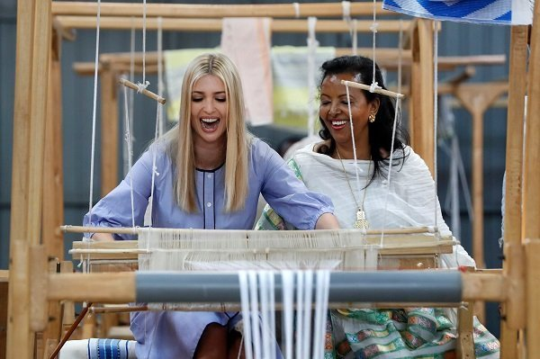 Ivanka Trump _ Weaving Ethiopian cloth