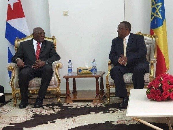 Cuba's first Vice-President Salvador Valdes Mesa in Ethiopia