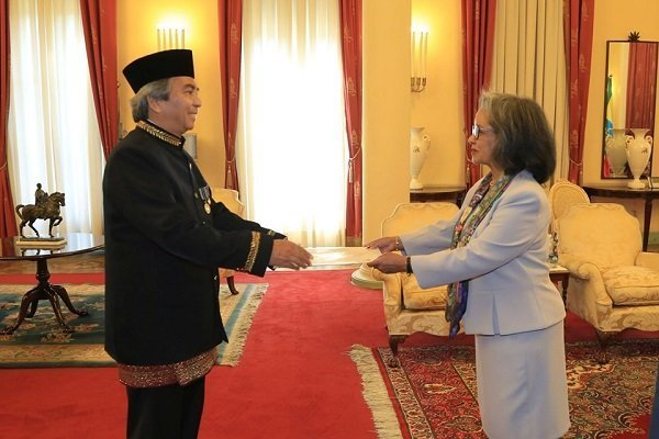 President Sahle-Work Receives Credentials of Seven Ambassadors