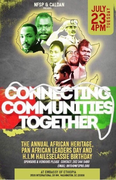 African Heritage, Pan African leaders Day and H.I.M Haileselassie Birthday celebration