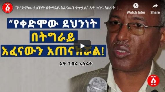 Former intelligence carrying on repression in Tigray