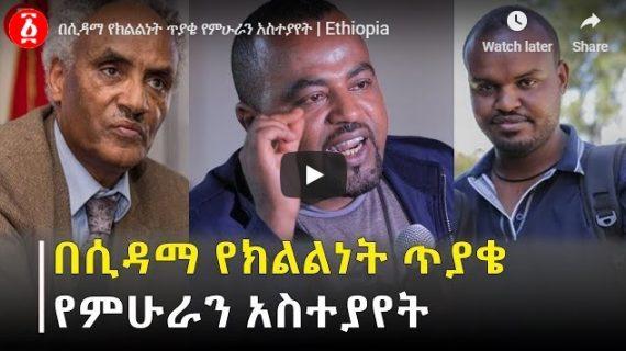 Beyene Petros, Abel Wabella remark on Sidama Statehood question