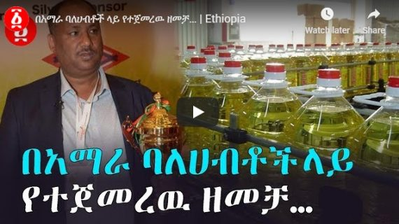 Alleged campaign against ethnic Amhara investors as reported by Andafta media
