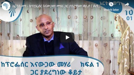 Arts TV interview with Professor Enawugawu Mehari