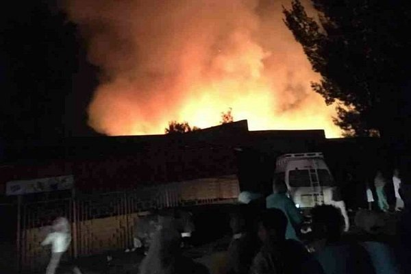 Fire raged Akaki Market South of the capital Addis Ababa