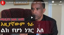 Comedian Assefa Tegegne remarks on the situation in Ethiopia