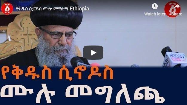 Ethiopian Orthodox Tewahdo Church Holy Synod resolutions