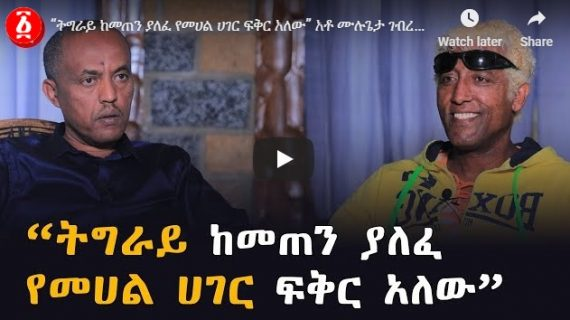 """""""In Tigray, there is an excessive affection towards the centre"""""""