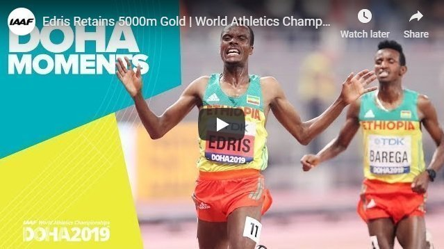 Muktar Indris defended his 5000 world champion title