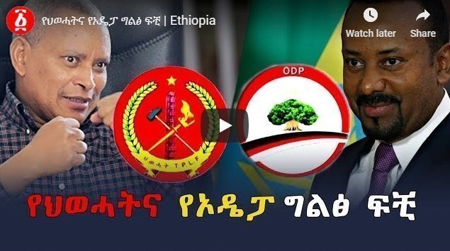 TPLF, Oromo Democratic Party (ODP) separation