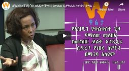 Azeb Mesfin interview with Walta Television part 2