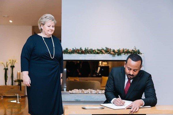 Abiy Ahmed _ Erna Solberg _ Norway _ Ethiopia
