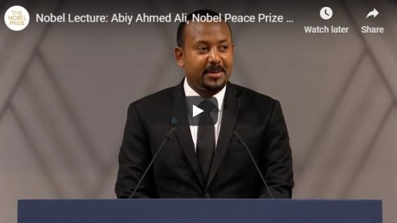 Abiy Ahmed Nobel Lecture at the Nobel Peace Prize 2019 event, Oslo City Hall