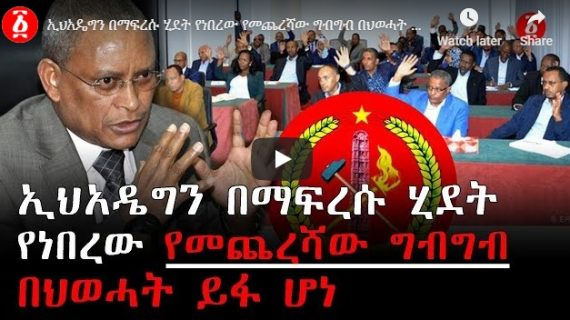 TPLF reveals the struggle to reverse the end of EPRDF